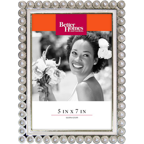 Better Homes and Gardens 5x7 Special Occasion Picture Frame, Pearl