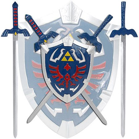 Legend Of Zelda Mini Sword Set With Shield Walmartcom