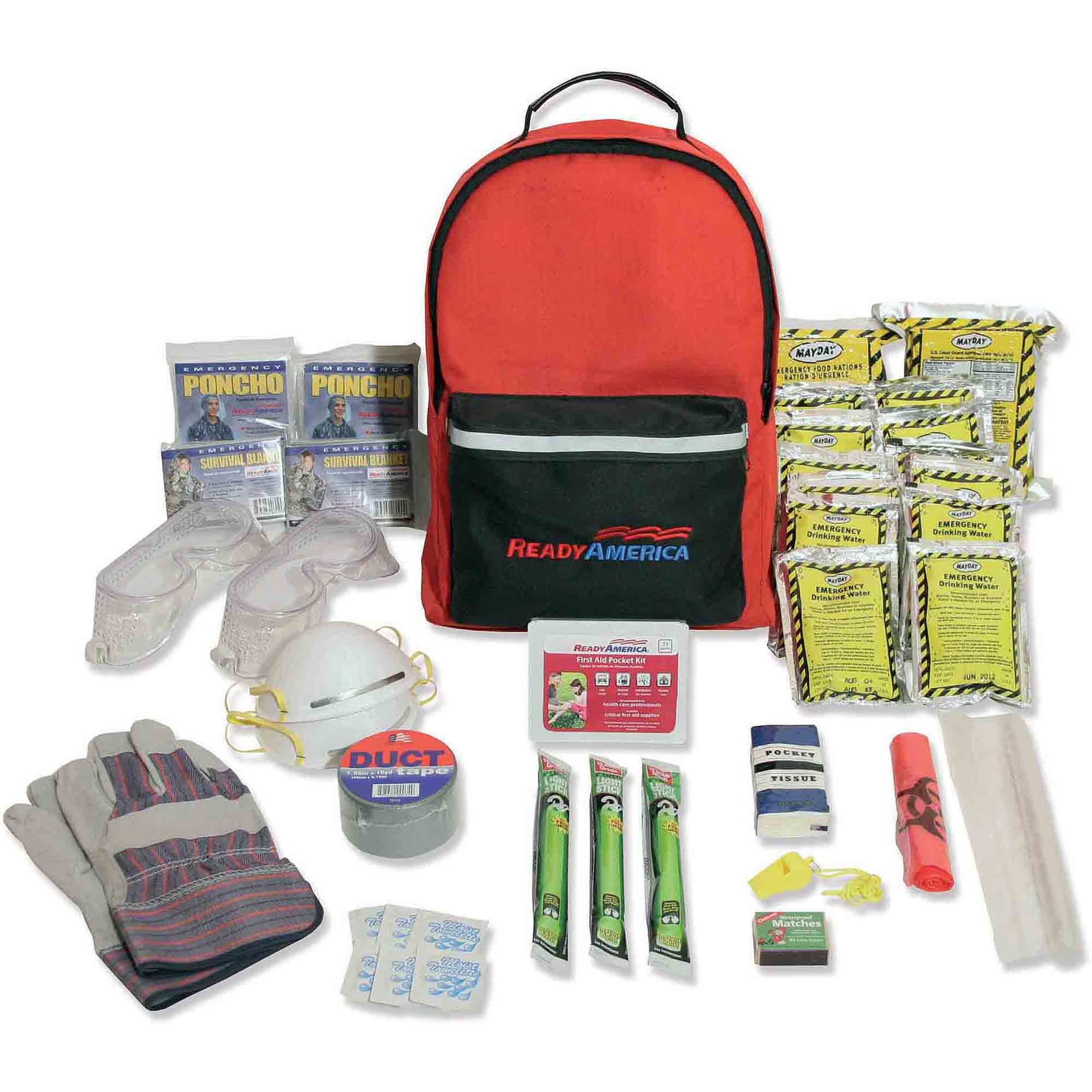 Ready America Emergency Grab 'n' Go 2-Person Hurricane Kit