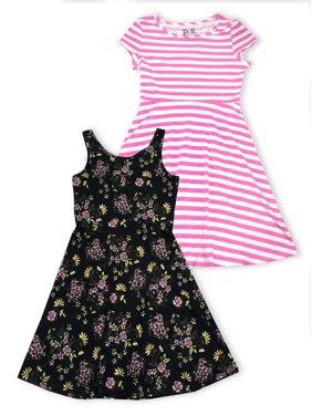 08dac907af97 Product Image Tropical Floral and Stripe Dresses, 2-Pack (Little Girls & Big  Girls)