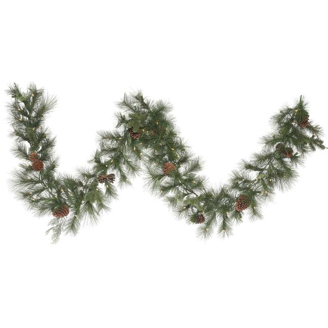 9 ft. x 14 in. Grover Mix Garland with 100 Clear Dura Light - image 1 de 1