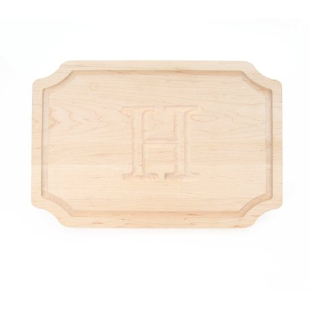 BigWood Boards 320-H Carving Board, Carving Board with Juice Well, Large Personalized Cutting Board with Juice Groove, Maple Serving Platter,