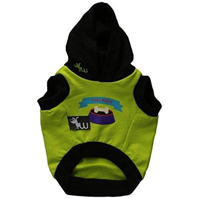 waghearted dwg30461 printed pet hoodie, x-small, green