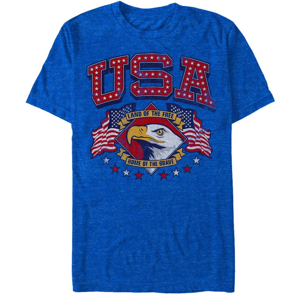 Men's Fourth of July USA Free Brave T-Shirt