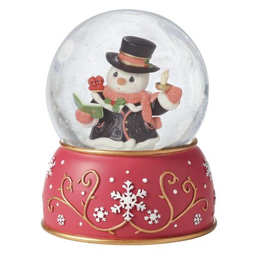 Precious Moments ''Caroling Snowman'' Musical Snow Globe by Precious Moments