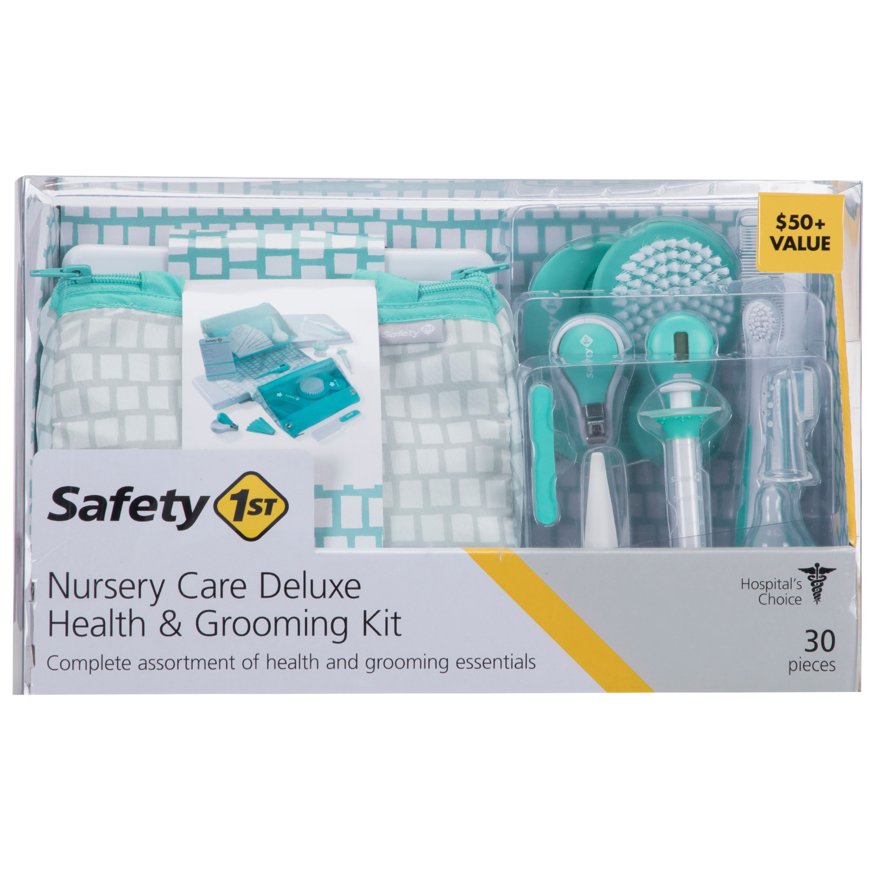 Safety 1st Nursery Care Deluxe Health & Grooming Kit, Sea Stone Aqua