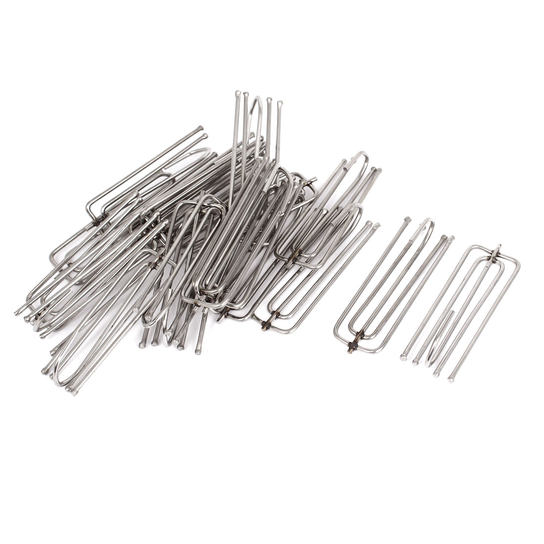 Unique Bargains Window  Stainless Steel Drapes Curtain Pleat Hooks 7cm Long 20 Pcs