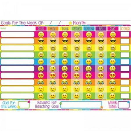 13 x 19 in. Emoji Goals Smart Poly Chart - Goal Charts