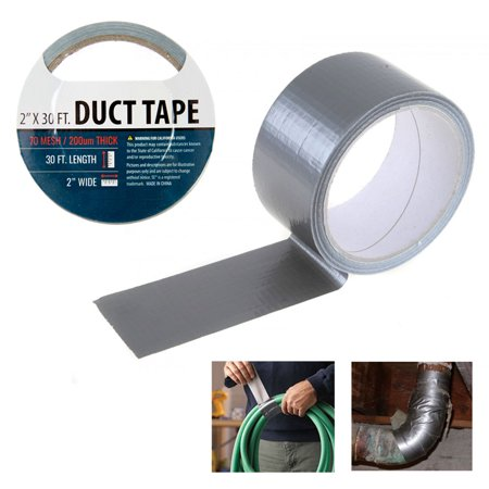 "1 Silver Duct Tape Roll 2"" x 10 Yards Sealing Boxes Heavy Duty Arts Crafts New"