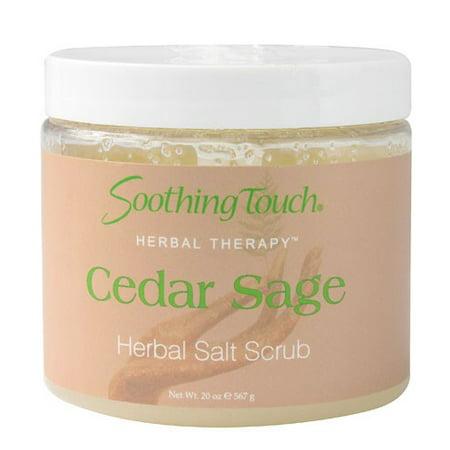 Soothing Touch Herbal Therapy Salt Scrub Cedar Sage -- 20 fl oz