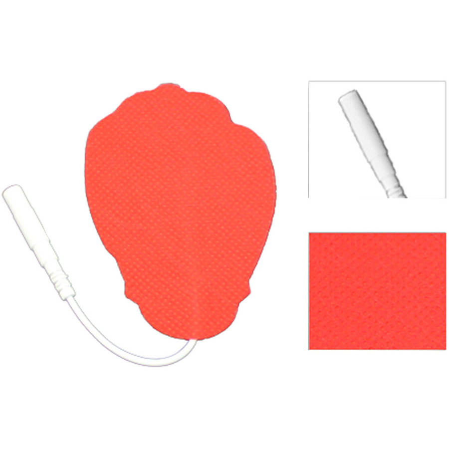 HealthmateForever Large Pin-Inserted Hand-Shaped Red Conductive Pads