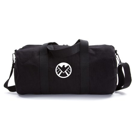 3b34779e7 Marvel Agents of Shield Logo Canvas Military Duffle Bag School Sports Gym  Duffel - Walmart.com