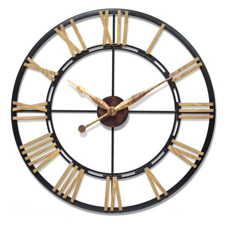 Infinity Instruments Cologne Decorative 46 in. Wall Clock ...
