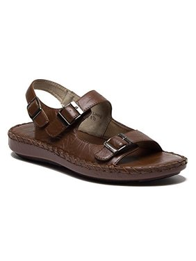 Majestic Men's 71225 Open Toe Sling Back Adjustable Sandals Slides