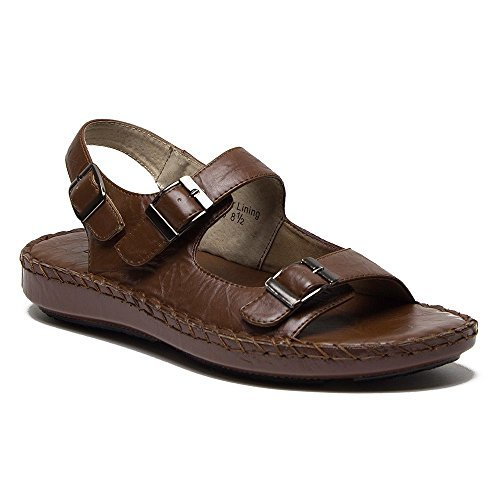 Majestic Men's 71225 Open Toe Sling Back Adjustable Sandals Slides
