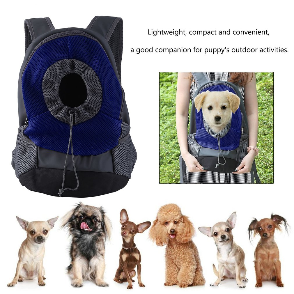 Backpack Pet Dog Cat Breathable Mesh Double Shoulder Bag Puppy Travel Carrier