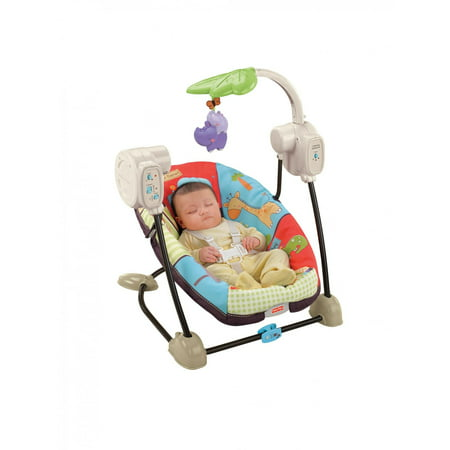 Fisher Price Luv U Zoo Spacesaver Swing Walmart Com