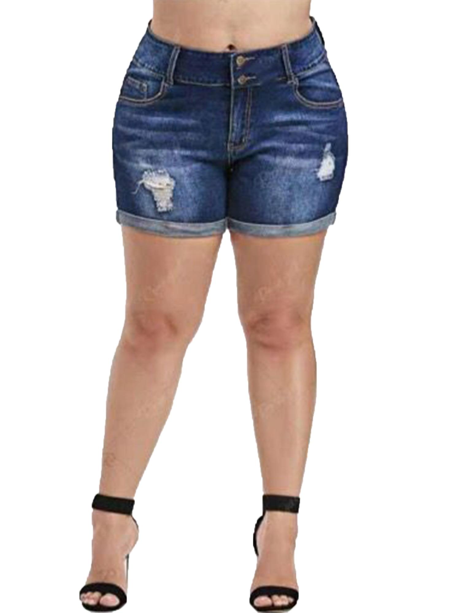 Women High Waisted Short Mini Jeans Denim Ripped Summer Casual Shorts Hot Pants