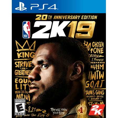 NBA 2K19 20th Anniversary Edition, 2K, PlayStation 4, 710425570612