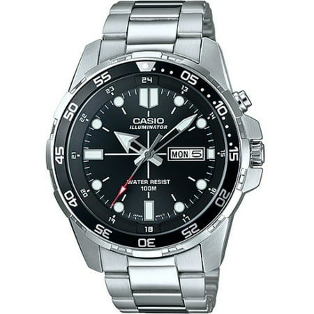 - Men's Dive Style Watch, Stainless Steel Bracelet