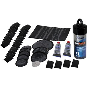 Tru Flate 11-007 Tire Repair Kit TruePatch (TM) For Vehicle Tire; Patch; With 8 Chembond ® Tubeless Patches/ 30 Rubber Patches Square/ 1 Thumb Buffer/ Two 0.3 Ounce Rubber Cement - image 1 of 1