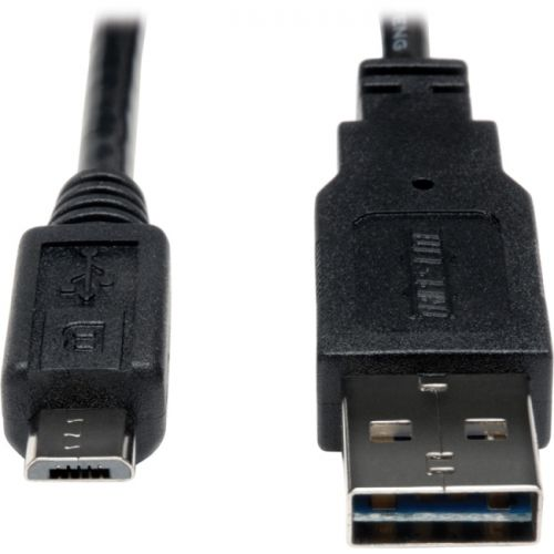 Tripp Lite USB 2.0 Reversible Charging Cable 28/24AWG A 5Pin Micro B 10pc 1ft - image 1 de 1