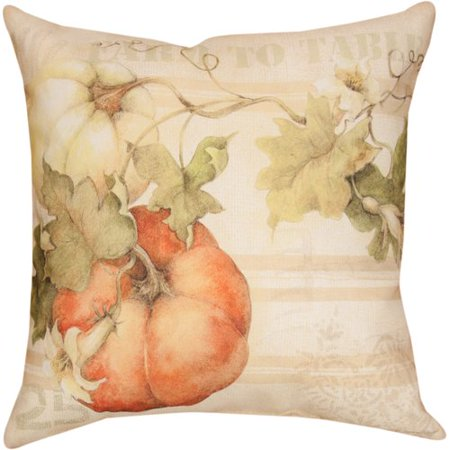- Manual Woodworkers & Weavers Pumpkins Farm to Table Knife Edge Throw Pillow