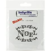 "IndigoBlu Cling Mounted Stamp 4""X3""-Noel-Dinkie"