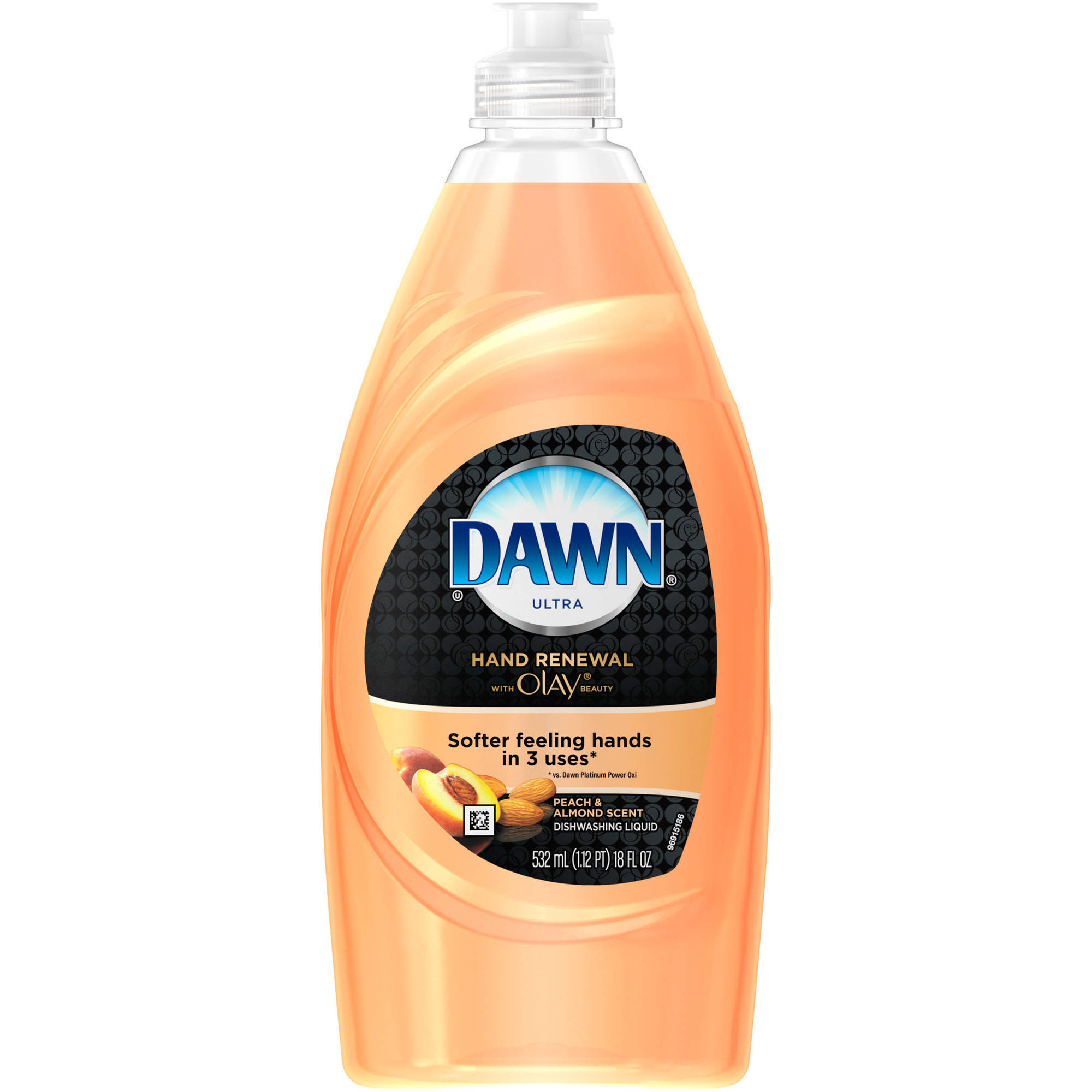 Dawn Hand Renewal with Olay Peach & Almond Dishwashing Liquid, 18 fl oz