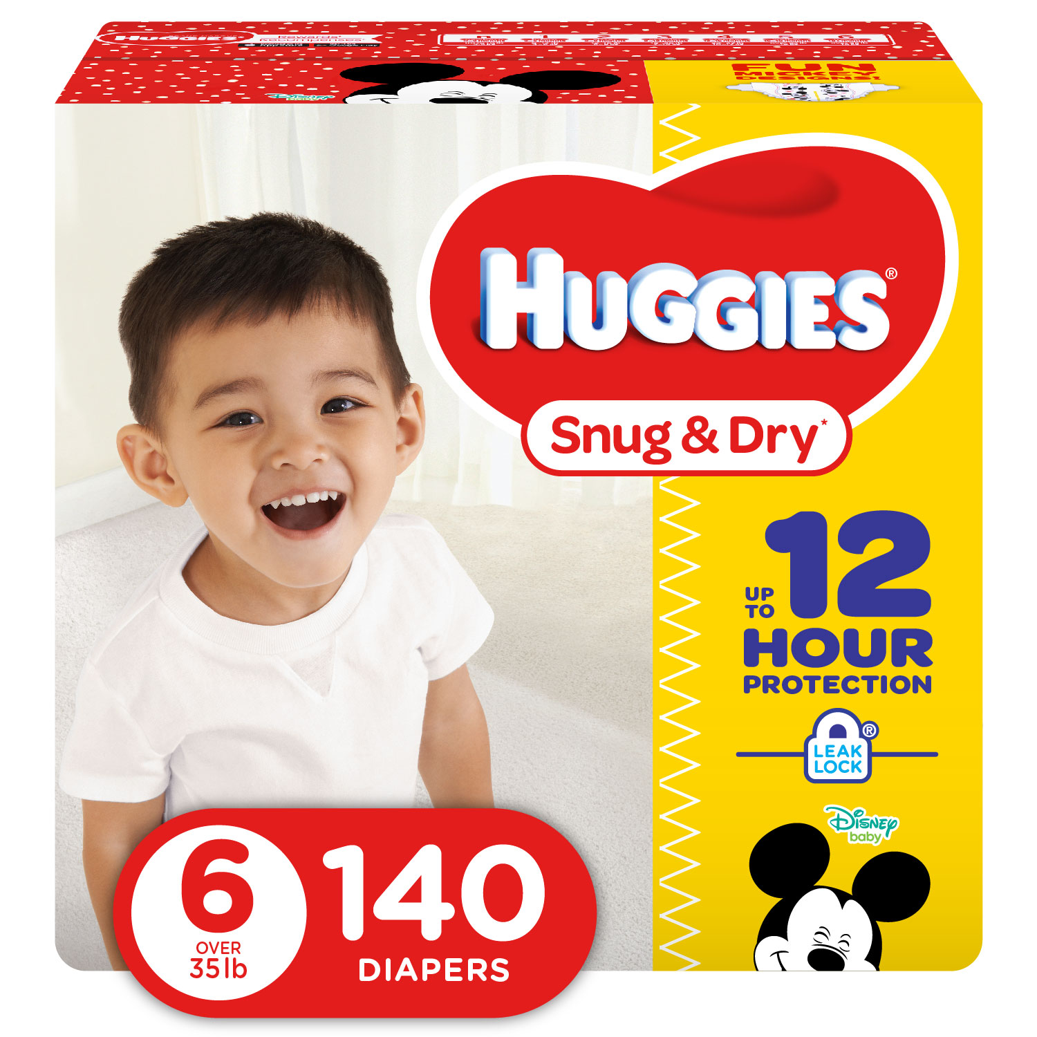 HUGGIES Snug & Dry Diapers, Size 6, 140 Diapers