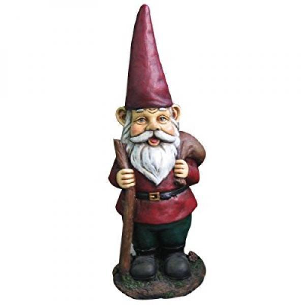 15 Garden Gnome w  Walking Stick by Harmony Fountains