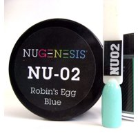 NUGENESIS Nail Color Dip Dipping Powder 1oz/jar - NU02 Robin's Egg Blue