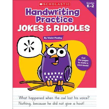 Handwriting Practice: Jokes & Riddles, Grades K-2 : 40+ Reproducible Practice Pages That Motivate Kids to Improve Their Handwriting](Halloween Kids Riddles)