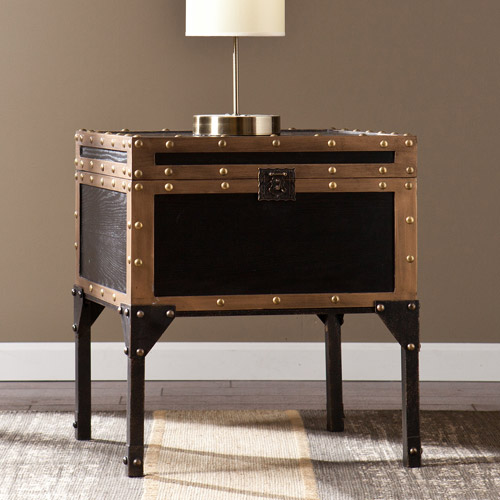Charles Travel Trunk End Table