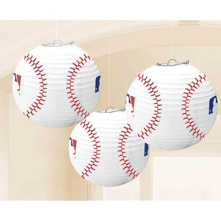 Baseball Lanterns (3 Count) - Party Supplies (Baseball Supplies)