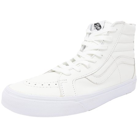 ac5d53e49c Vans - Vans Sk8-Hi Reissue Zip Premium Leather True White   Black High-Top  Skateboarding Shoe - 12M 10.5M - Walmart.com