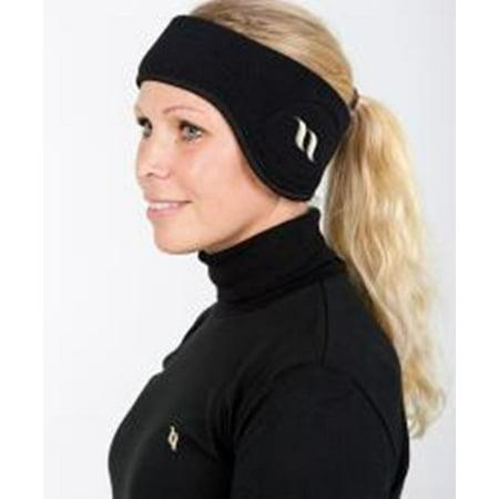 BACK ON TRACK Fleece Headband Black Small 21