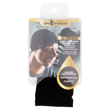 Dri Sweat Xtreme Mens Active Wear Sports Cap  Black