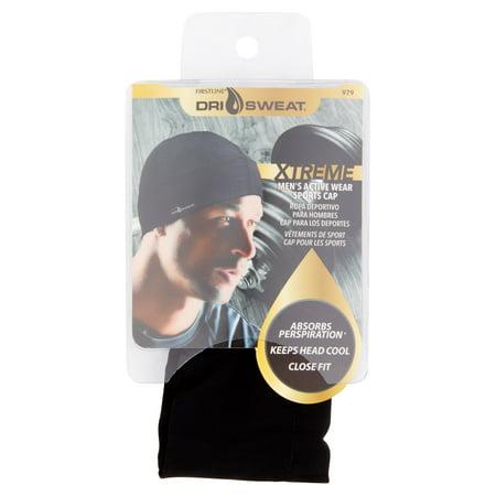 Dri Sweat Xtreme Men's Active Wear Sports Cap, Black