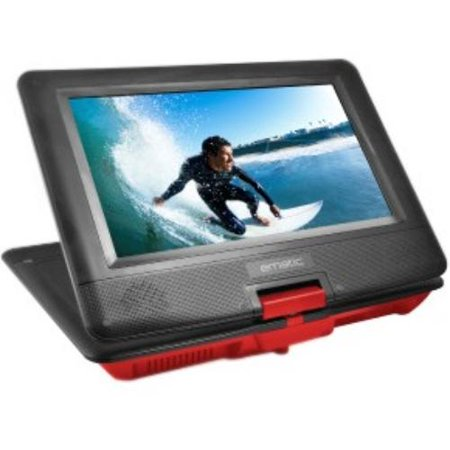 Ematic Epd116 Portable Dvd Player – 10″ Display – 1024 X 600 – Red – Dvd-r, Cd-r – Dvd Video, Video Cd, Mp4, Divx – Cd-da, Mp3 – Lithium Polymer (epd116rd)