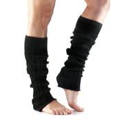 Leg Warmers Knee High Charcoal Grey One Size