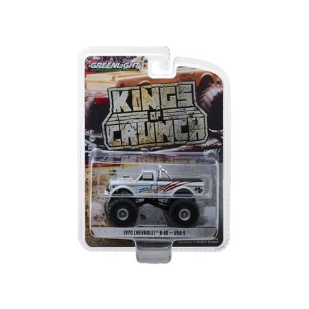 Geenlight 49010-B 1:64 1970 Chevy K-10 Monster Truck USA-1 Kings of Crunch Series 1 diecast (1970 Chevy)