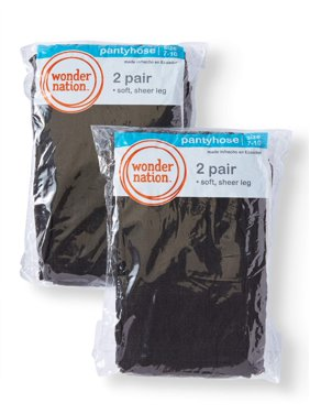 Wonder Nation Sheer Tights, 4 Pack Stockings (Little Girls & Big Girls)
