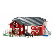 Schleich, Large Red Barn with Animal Figurines & Accessories (72102)