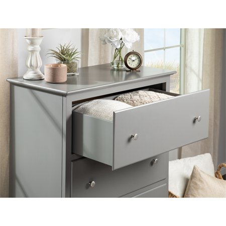 Bowery Hill Solid Wood 4-Drawer Chest in Gray - image 5 of 13