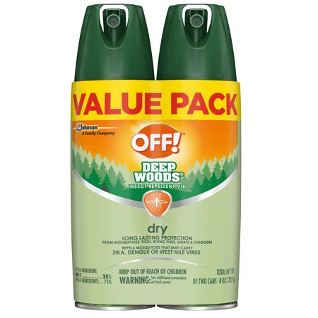 OFF! Deep Woods Insect Repellent VIII Dry, 4 oz, 2 (Off Highway Protection)