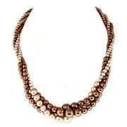 C Jewelry Topaz Mixed Glass Pearl Twist Necklace