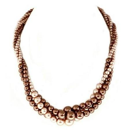 - C Jewelry Topaz Mixed Glass Pearl Twist Necklace