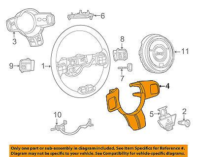 Genuine Chrysler 5LS95JXPAA Steering Wheel Bezel