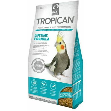 Tropican Lifetime Formula Granules Parrot Food, 2 milliliter, 4 Pound